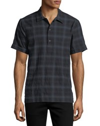 Ovadia And Sons Ashkelon Plaid Polo Shirt Black Green