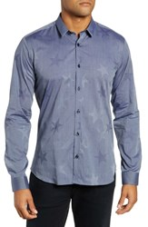 Jared Lang Trim Fit Chambray Star Sport Shirt