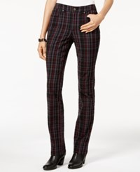Charter Club Lexington Plaid Straight Leg Jeans Only At Macy's Deep Black Combo