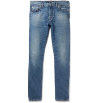 Valentino Slim Fit Contrast Panelled Denim Jeans Blue