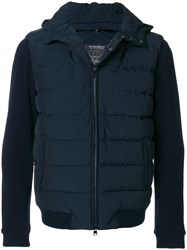 Woolrich Fitted Padded Jacket Polyamide Polyester Duck Feathers Xl Blue