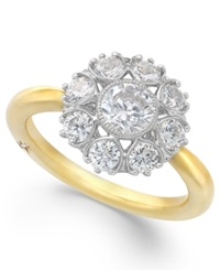 Star By Marchesa Certified Diamond Ring In 18K Gold 1 1 3 Ct. T.W. Yellow Gold