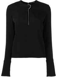 David Koma Keyhole Detail Blouse Black