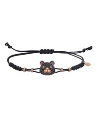 Pippo Perez 18K Rose Gold Diamond And Sapphire Toy Bear Pull Cord Bracelet