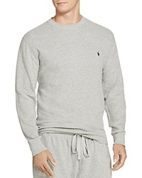 Polo Ralph Lauren Waffle Knit Long Sleeve Lounge Top Andover Heather