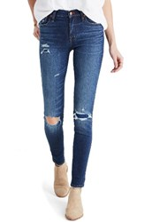 Madewell Women's High Waist Skinny Jeans Ripped And Patched Edition