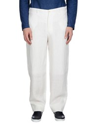 Armani Collezioni Trousers Casual Trousers Men White