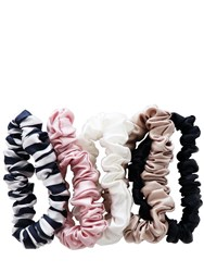 Slip Set Of 5 Medium Silk Scrunchies Multicolor