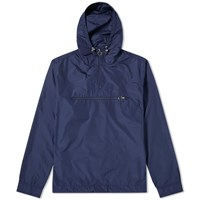 Soulland Newill Popover Nylon Hood Jacket Blue