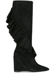 J.W.Anderson Ruffled Detail Boots Black