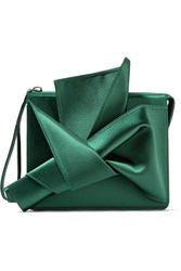 N 21 No. Knot Satin Clutch Forest Green