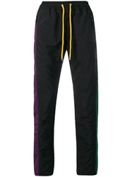 Pyer Moss Color Blocked Track Trousers Black