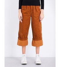 Chocoolate Roll Up Corduroy Trousers Orange
