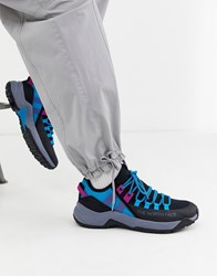 The North Face Trail Escape Edge Trainers In Black Acoustic Blue
