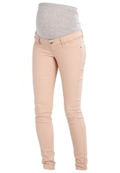 Mamalicious Mlelly Slim Fit Jeans Moonlight Beige