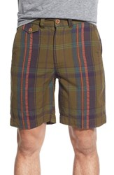 Men's Vintage 1946 Madras Plaid Shorts Olive