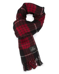 Scotch And Soda Blue Red Plaid Scarf