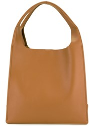 Maison Martin Margiela Structured Tote Bag Brown