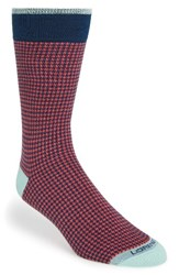 Lorenzo Uomo Men's Houndstooth Socks Pink
