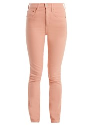 Re Done Originals High Rise Skinny Jeans Pink