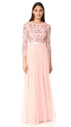 Needle And Thread Meadow Gown Bright Pink