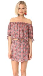 Free People Electric Love Printed Set Red Combo