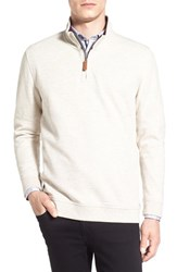 Ted Baker Men's London 'Mandra' Quarter Zip Pullover Natural