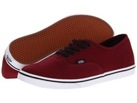 Vans Authentic Lo Pro Tawny Port True White Skate Shoes Mahogany