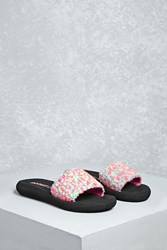 Forever 21 Rocket Dog Tweed Slides Black Multi