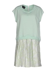 Atos Lombardini Dresses Short Dresses Women Light Green