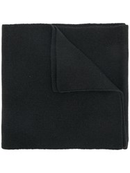Dsquared2 Logo Knitted Scarf Wool Black