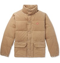 Human Made Printed Quilted Corduroy Down Jacket Neutrals