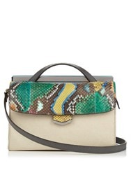 Fendi Demi Jours Small Leather And Python Cross Body Bag