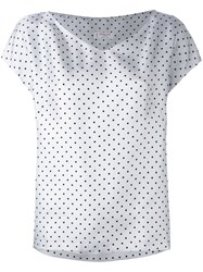 Alberto Biani Polka Dot T Shirt Women Silk 44 Grey