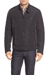 Marc New York 'Baxter' Water Resistant Quilted Moto Jacket Black