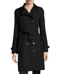 Burberry Sandringham Long Slim Trenchcoat Black