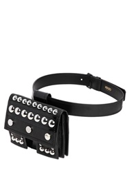 Kenzo Studded Grained Leather Belt Pack Black