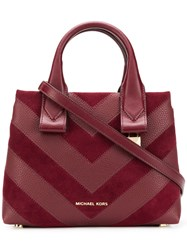 Michael Michael Kors Small Rollins Tote Bag Red