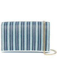 Diane Von Furstenberg Dvf Striped Shoulder Bag Blue