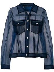 Viktor And Rolf Sheer Shirt Like Top Blue