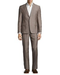 Versace Two Piece Wool Blend Pindot Suit Light Gray