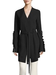 Derek Lam Ruffle Wrap Jacket Black