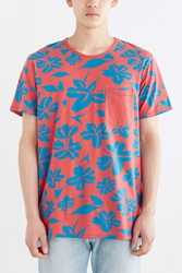 Bdg Clifton Tropical Standard Fit Tee Orange