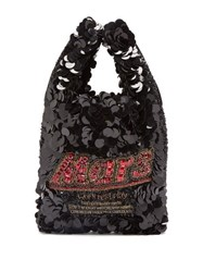 Anya Hindmarch Mars Bar Sequinned Tote Black Multi