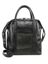 Maison Martin Margiela Large Leather Satchel Bag Black