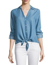 Soft Joie Crysta Chambray Tie Front Top Vintage Chambray
