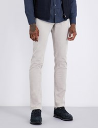 Corneliani Slim Fit Tapered Stretch Cotton Trousers Grey