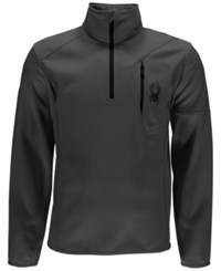 Spyder Outlaw Half Zip Fleece Top Dark Grey