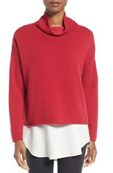 Eileen Fisher Women's Recycled Cashmere And Lambswool Sweater China Red