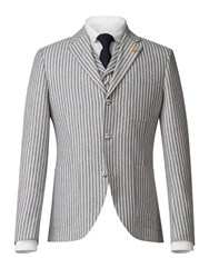 Gibson Men's Blue And White Stripe Jacket Blue